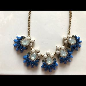 💝JCrew Blue-Gold tone Crystal accents necklace 💝